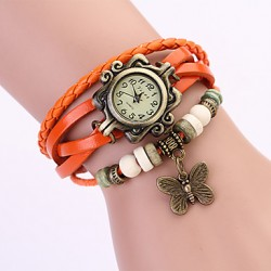 Smykkeur orange m. vedhæng.